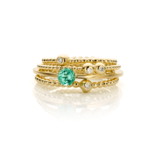 Inez Nieman Stacking Rings Diamonds Tourmaline