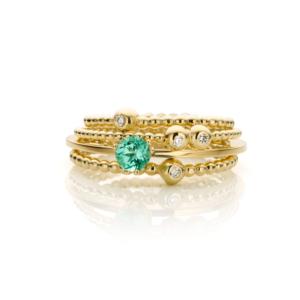 Inez Nieman Stacking Rings Diamonds Tourmaline