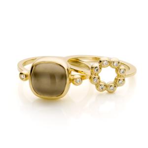 Inez Nieman Maansteen Diamanten Ringen