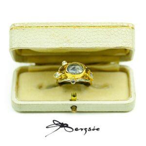 Josephine Bergsøe Double Seafire beryl diamant