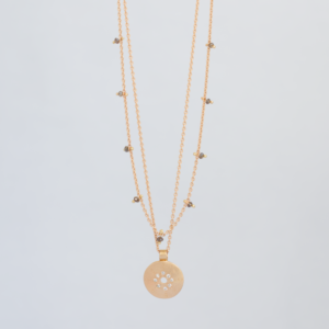 &jewels Necklace dots & centre of the universe