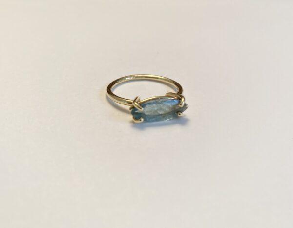 nicolettes toltze aquamarijn ring navette