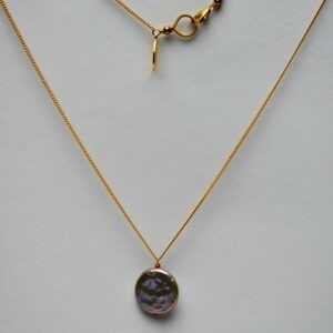 Goldfilled collier zoetwater parel