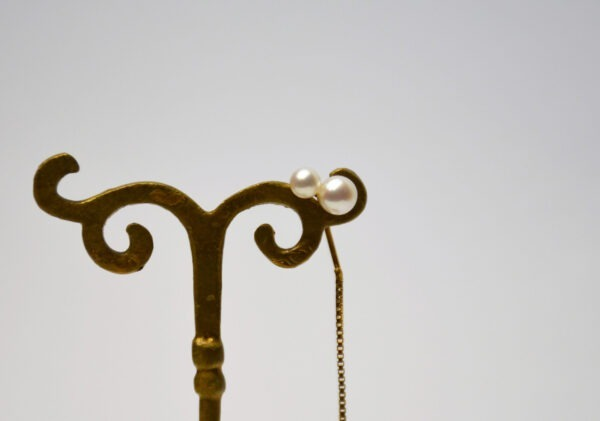 Chain Earing with double pearl